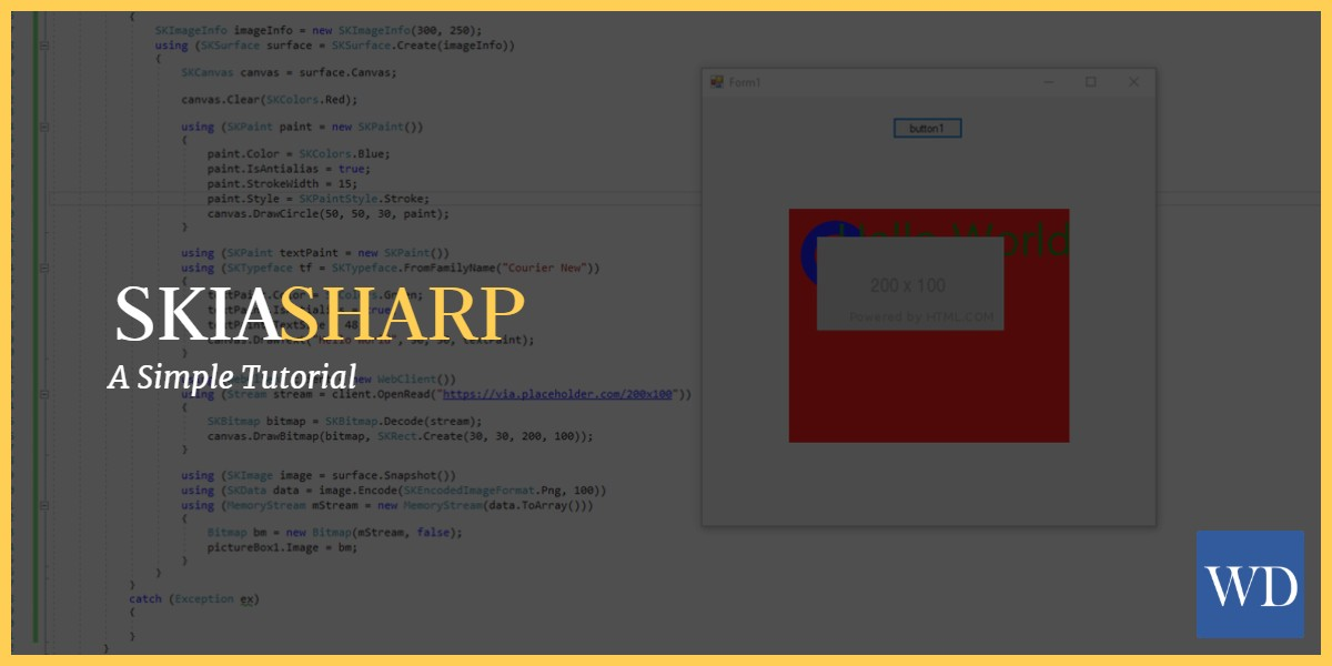 Skiasharp Tutorial Easily Draw Shapes Text And Images In Net